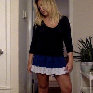 Madewell color block mini dress